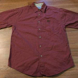Carhartt Mens Medium Short Sleeve button up Shirt